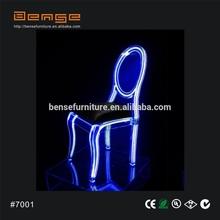 LED acrylic wedding chair