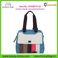 Good Quality Blue Canvas Fashion Designer Woman Hand Bag Manufacturer