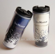 christmas plastic coffee mugs,sublimation starbucks thermos, double wall acrylic tumbler