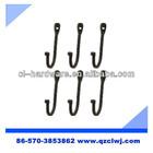 black metal j shaped hook