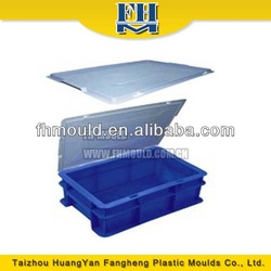 mould design plastic turnover box mold manufacturer crate cover injection mould