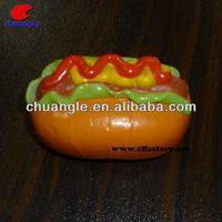 plastic food model, plastic hamburger, food toy