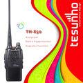 Tesunho th-850 boa qualidade mãos livres walkie-talkie com função tot