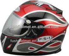Red ECE full face motorcycle helmet 606