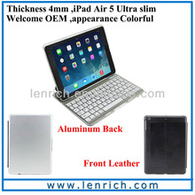 LBK167 Air Kee Ultra-Slim Bluetooth Keyboard Case for iPad Air - Synthetic Leather Case and Magnetically Detachable Keyboard