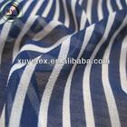 Navy wind stripe chiffon fabric dress material