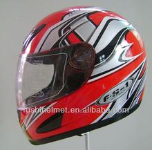 Red Shell Full Face Motorcycle Helmet B38