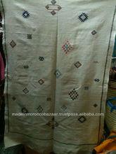 Light Weight Moroccan Sabra Silk Kilim Rug