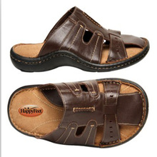 HappyFeet design of mens leather slippers