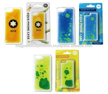 [for iPhone Case Wholesale]Plastic Liquid Oil Mobile Phone Case for iPhone 5, 5s, 5c (Beer / Liquid Blue / Liquid Yellow)