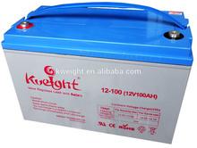Solar battery sla 12v100Ah to storage energy