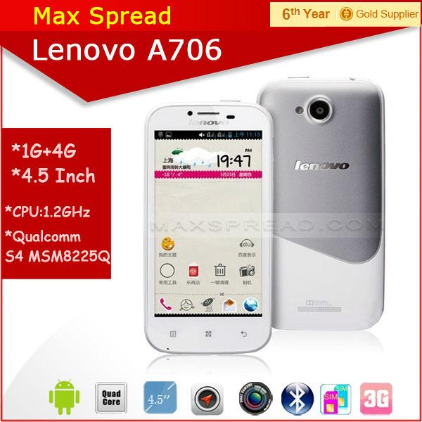 4.5'' Lenovo A7063g android 4.1 dual sim mini smart phone