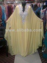DUBAI VERY FANCY KAFTANS abaya jalabiya Ladies Maxi Dress Wedding gown earring k7011
