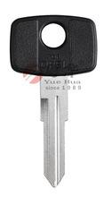 Custom black rubber head brass blade YM28P car flip key for OPEL car lock from China
