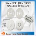 Sayes venda quente Magnet pressão botões magnéticos 18 mm prata / níquel