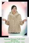 (RX-D13041)2013 fashion beige mink fur coat