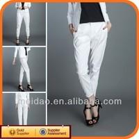 2014 Ladies Fashion Cheap White Women Extra Wide Leg Pants