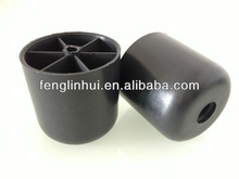 70*70mm black round plastic furniture sofa legs M009