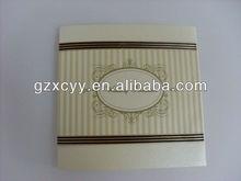 2014 handmade wedding invitation card for decoration