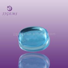 oval aquamarine glass cabochon gemstones /aquamarine cabochon stones