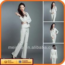 2014 White Ladies Fashion Cheap Business Suit Set Women
