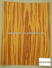 Yellow Zebra Artificial Wood Veneer For Furniture