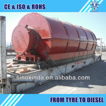 on discount!XD continous scrap tyre pieces recycling to oil machine in stock