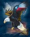 maravilhoso 3d lenticular fotos de águia