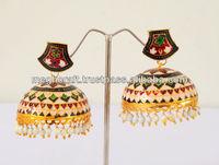 Meenakari Jhumka -Wholesale meenakari jewelry -thewa jewellery-party wear traditional jhumka earrings