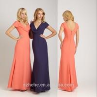 JM.Bridals CY1139 Elegant Chiffon Short sleeves Shealth bridesmaid dress patterns 2014