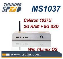 X86 Mini PC MS1037 with Intel Celeron 1037U Dual Core 1.8Ghz 2GB RAM 8GB SSD Support 1080P Win 7 OS