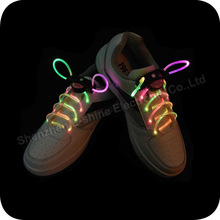 2014 new party supply Purple glowing led shoelaces