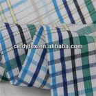 drapery soft polyester cotton yarn dyed plaid seersucker fabric