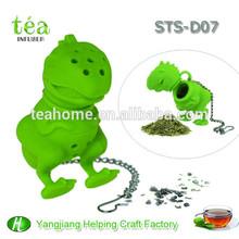 silicone passoire à thé cadeau promotionnel cadeau de vacances en silicone mini forme de dinosaure en plastique tamis passoire à thé