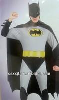 Christmas wholesale soft coral fleece batman onesie/latest style cartoon costume for adult