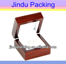luxury OEM design fine quality wood engagement ring boxes