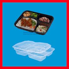 Transparent Cover Plastic Bento Container