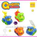 Q- เมืองพลาสติกแรงเสียดทานการ์ตูนรถของเล่นสำหรับเด็ก