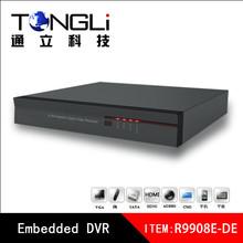 D1 CCTV DVR Recorder 8ch h 264 video recorder HDMI video output full D1 dvr
