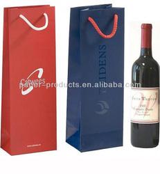 wine paper bag/wine gift bag/gift bag for grape wine