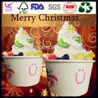 4/6/8/12/16/20/22/24/32oz Custom printed take away yogurt/ice cream paper base