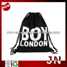 Wholesale Black Shoulder Bag,Eco Fiber Shopping Bags, Polyester Promotional Drawstring Bag