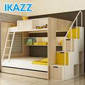 literas para los niños con escaleras y de almacenamiento de diapositivas de la cama