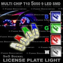 LED T10 W5W 9 LED SMD XENON Car License Plate, Light - Lamp