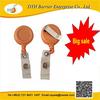 Contemporary yellow rotating yoyo badge reel on stock