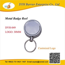 metal and leather business badge holder