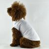 White Blank Plain Dog T-shirts Summmer Pet Clothing wholesale [FD017A]