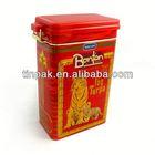 rectangular red popcorn bucket with lid
