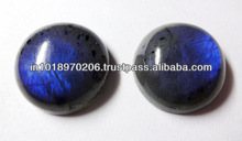 Natural Labradorite 20mm Blue Fire Round Cabochon Semi Stone