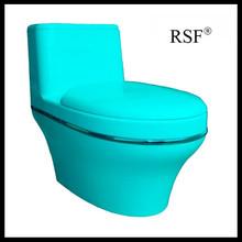 Modern Plastic, beautiful, saving water, colourful, one piece toilet